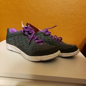 Champion Gray and Purple Shoes, size 2.5